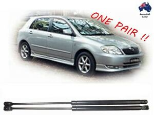 2 x NEW Gas Struts suit Toyota Corolla HATCH BACK 2002 to 2007 Conquest Ascent