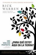 Una Vida con Proposito Para Qu Estoy Aqu En La Tierra Libro Cristiano En Espanol
