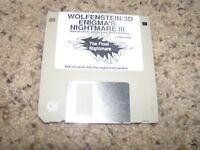 """Wolfenstein 3D Enigma's Nightmare III PC MS- DOS 3.5"""" floppy disks"""