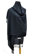 Fashion Secrets Womens`s Black  Solid Soft Pashmina Scarf Wrap Shawl Oblong