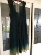 Principles Dark Green to lime green ombre chiffon dress size 18 Prom/ Wedding