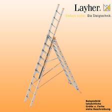 Layher Alu Allzweckleiter 3-teilig Multifunktionsleiter 3x10 Spr., Typ 1040.010