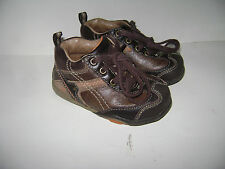 STRIDE RITE DYLAN BABY TODDLER BOYS SHOES size 5.5 W BROWN SOFT SOLE LEATHER