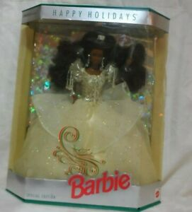 Vintage 1992 Happy Holidays 1992 African American Barbie Doll