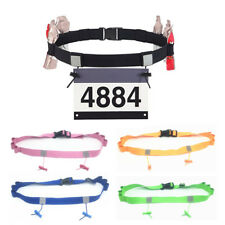 Cinturón de Maratón Triatlón Deporte Correr Carrera Número Soporte Cintura Cinturón Babero unisex