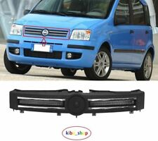 FIAT PANDA 2003-2012 FRONT RADIATOR UPPER CENTRE GRILLE GRILL BLACK WITH CHROME