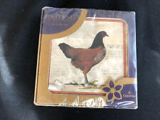 """Pimpernel Premier Collection """"Provencal Rooster"""" Coasters - New 6pk"""