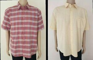 2 x PENGUIN - Men's Size XL - Short Sleeve Shirts Maroon & Yellow