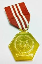 Rare Singapore Long Service & Good Conduct Award Gold Color Medal Badge (A696)