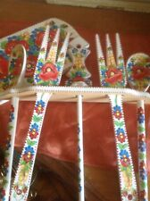 Shabby Chic HAND PAINTED WOODEN KITCHEN SPOONS FORK SET