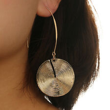 EG_ Classic Women's Party Ear Drop Jewelry Spiral Disc Round Hook Earrings Utili
