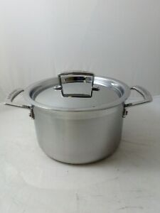 Le Creuset 3-ply Stainless Steel Deep Casserole With Lid, 4L 20cm, Ref:W1547