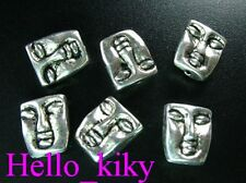 30 pcs Tibetan silver man face spacer beads A384
