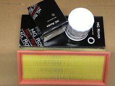 Genuine MG ROVER ZR 25 servizio KIT FILTRO OLIO + FILTRO ARIA + RONDELLA fondo