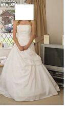 Pronovias A-line Regular Size Strapless Wedding Dresses