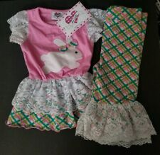 Nwt Ann Loren Girls Easter Bunny Outfit Size 2-3T Boutique Nwt