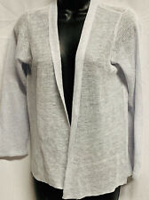 EILEEN FISHER~ WOMEN'S LINEN & SILK CARDIGAN SWEATER  ~ SIZE PETITE MEDIUM