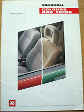 VAUXHALL COLOUR AND TRIMS BROCHURE 1990 MODELS NO 3 10 PAGES