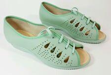 Luftpolster womens green leather sandals worn once UK 6 Eu 39