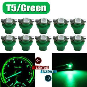 10x Green T5 B8.5D 5050 Car LED Dash Dashboard Gauge Lamp Bulbs Instrument Light