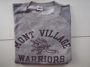 Vintage 60's 70's American Champion Raglan Sleeve Sweatshirt Size L