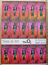 "MICHAEL JACKSON KING OF POP ""THIS IS IT"" Original Hologram Concert Ticket Sheet"