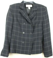 Jones New York Woman Sz 4 Dark Navy Blue All Season Blazer Suit Jacket MSRP $220