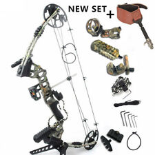 M120 Hunting Bow Set Right Hand Camo Compound Bow Archery Peep hole Sight Rest
