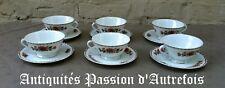 B2018176 - 6 tasses et sous tasses en porcelaine de Limoges - Très bon état