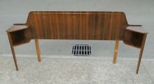 VINTAGE WALNUT VENEER DOUBLE BED HEADBOARD / BEDSIDE TABLES  DELIVERY AVAILABLE