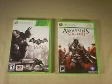 Batman Arkham City and Assassin's Creed 2- Xbox 360 Games