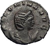 SALONINA Authentic Ancient 262AD Rome Gallienus Wife Roman Coin PUDICITIA i71767