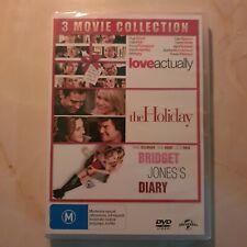3 Movie Set Bridget Jones's Diary The Holiday Love Actually DVD Region 2 4