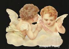 German Embossed Scrap Die Cut- Large Darling Christmas / Easter Angels    BK5159