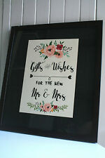 Mr & Mrs Gift Wishing Well Card Table Present Wedding Engagement Party Vintage