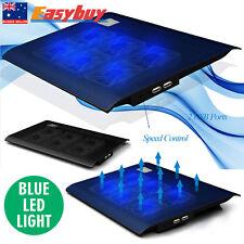"Portable Slim 6 Fans Notebook Cooling Pad Cooler Mat For 15"" 15.4"" Laptop N2"