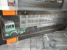 MERCEDES BENZ LPS 1632 grün Viehtransporter 1970 Truck LKW Camion IXO 1:43