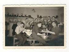 10/108 photo soldats logement Casque en acier à gaz Fleischer Metzker saucisses faiseurs