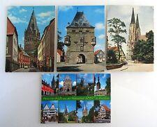 4 x SOEST Westfalen Ansichtskarten Lot frankiert mit Briefmarken, gestempelt