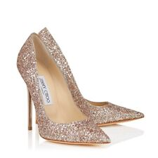 Jimmy Choo Anouk' ' Oro Brillo Bombas Tacones Tribunal desnuda Stiletto Size UK 3 EU 36
