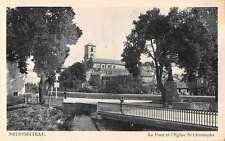 Neufchateau France Bridge St Christophe Church Antique Postcard J67522