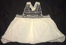 Hollister Women's White Blouse, Size Small