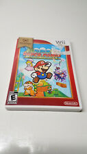 Wii SUPER PAPER MARIO NINTENDO WII GAME, MANUAL AND CASE FREE SHIP tested works