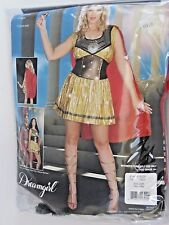 Plus Size 1X/2X Women's Red Gold Gladiator Costume Cosplay Halloween Party Sexy