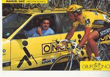 CYCLISME carte  director tecnico MANUEL SAIZ  équipe ONCE 1993