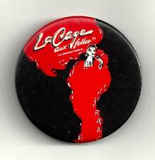 "Jerry Herman ""LA CAGE AUX FOLLES"" George Hearn / Gene Barry '83 Broadway Pinback"