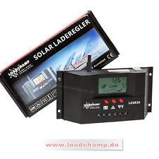 Automatik Solar Laderegler 30A 12V 24V Solar Regler Controller AGM GEL Batterie