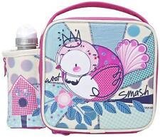 Smash Woot Childrens Girls Cute Bird Lunch Bag & Water Bottle Set