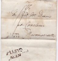 # 1784 NEWCASTLE PMK LETTER EX CUTHBERT TEASDALE AT HEXHAM TO REV DIXON COXCLOSE