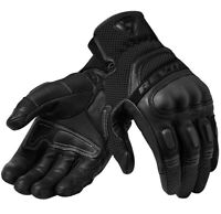 GUANTI GLOVES REV'IT DIRT 3 NERO  BLACK PELLE TOURING PROTEZIONI TG L